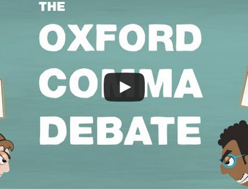The Great Oxford Comma Debate